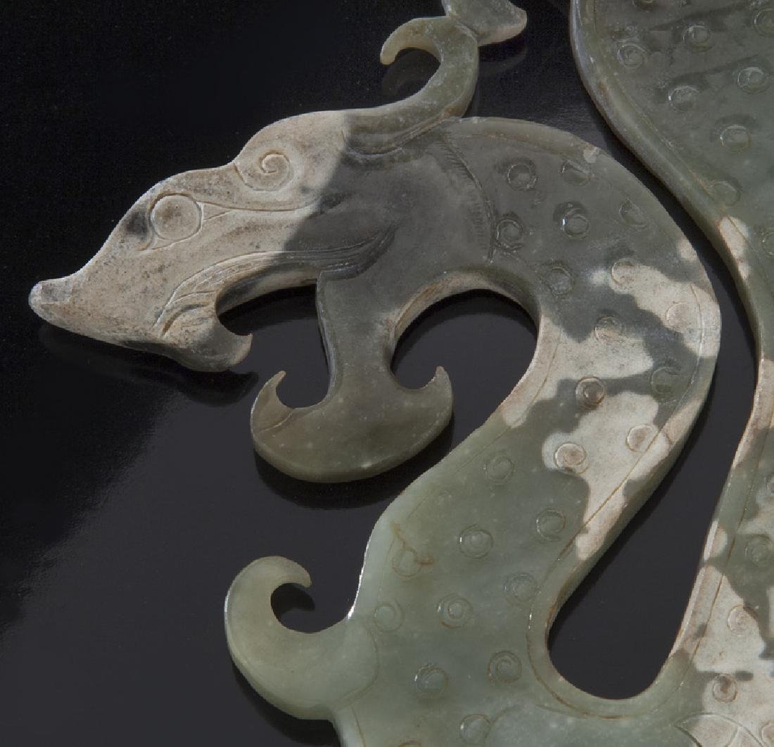 Chinese Han style jade pendant, - 2