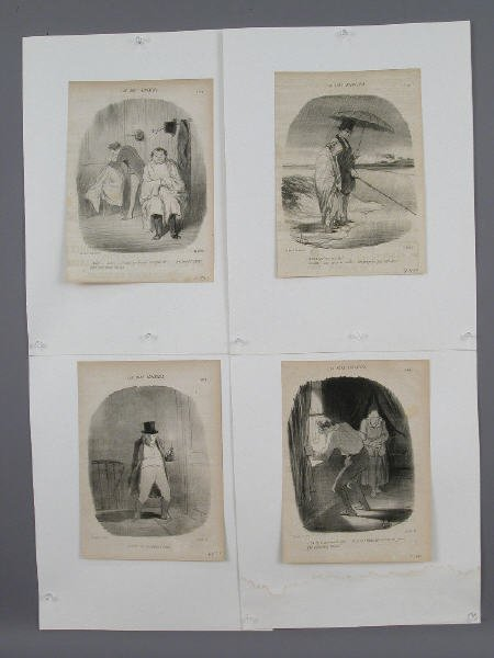 """5: (4) Honore Daumier lithographs from """"Le"""