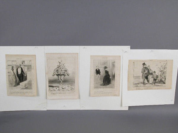 """6: (4) Honore Daumier lithographs from """"Le"""
