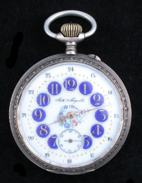 16: Marked Eclipse anti magnetic pocket watch,