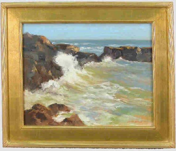 22: Signed Darwin Duncan (LR) oil on canvas