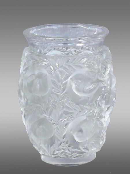 """23: Marked Lalique France """"Bagatelle"""" vase"""