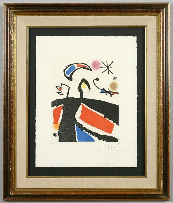 16: Joan Miro color etching and aquatint from,