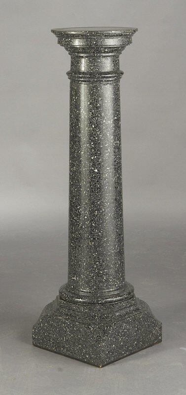 9: Greenish-gray Petit granite pedestal of columnar