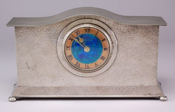 13: Liberty and Co. Tudric pewter mantle clock