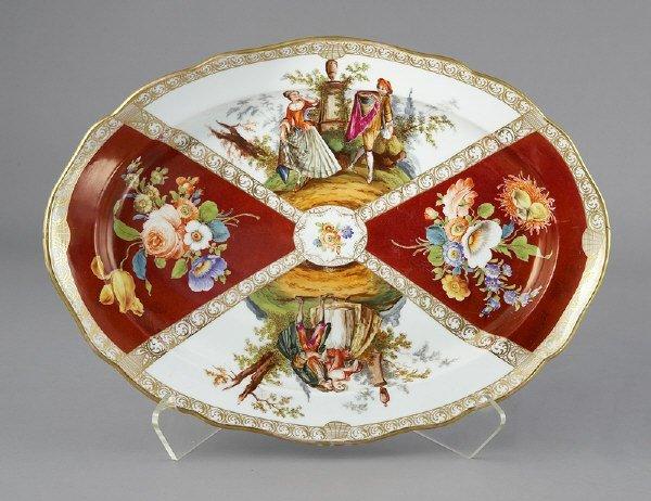 21: Meissen oval serving platter