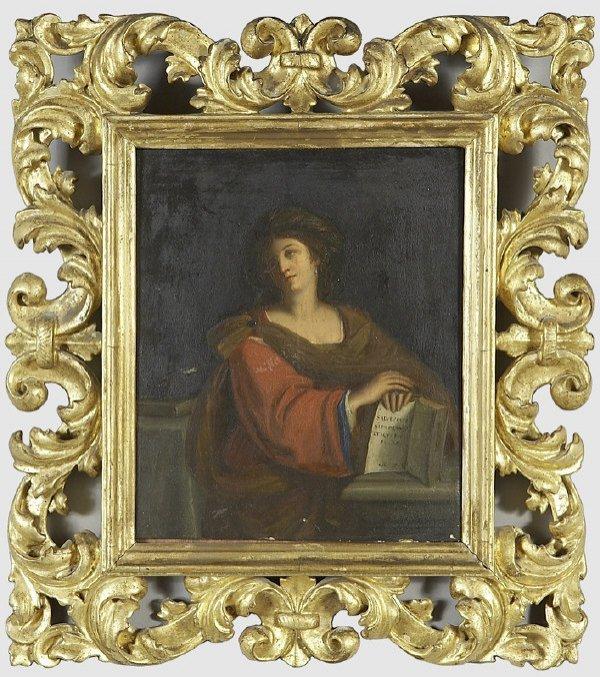 24: 18th C. Florentine School oil painting on panel of