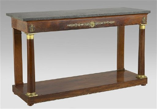 Strange 91 French Empire Grey Fossil Marble Top Console Table Spiritservingveterans Wood Chair Design Ideas Spiritservingveteransorg