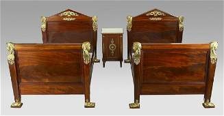 189: 3 Pc. French Empire mahogany bedroom suite