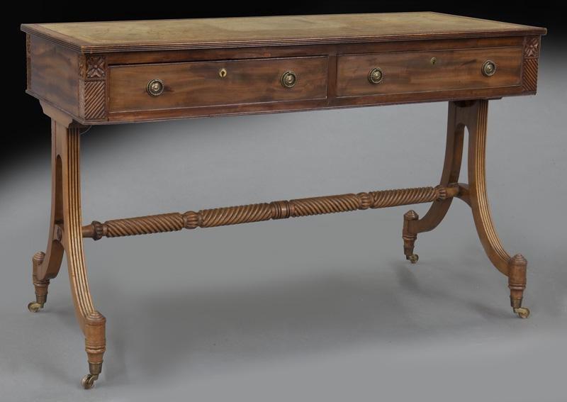 Regency style mahogany sofa table with