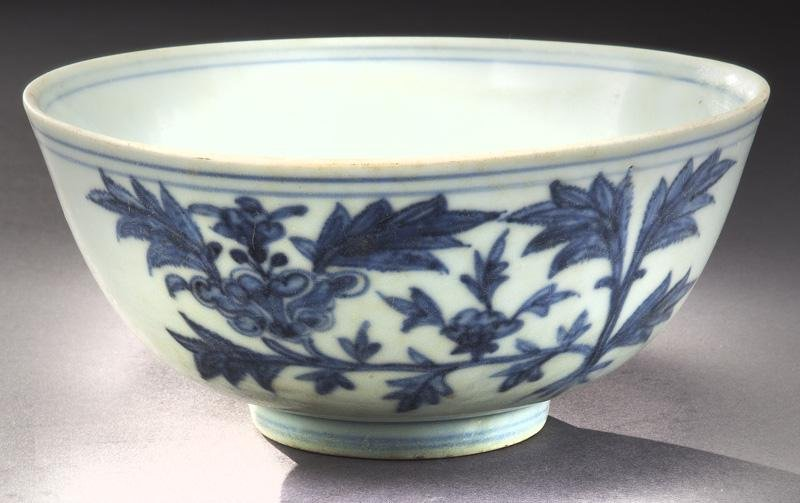 Chinese Ming blue & white porcelain bowl,