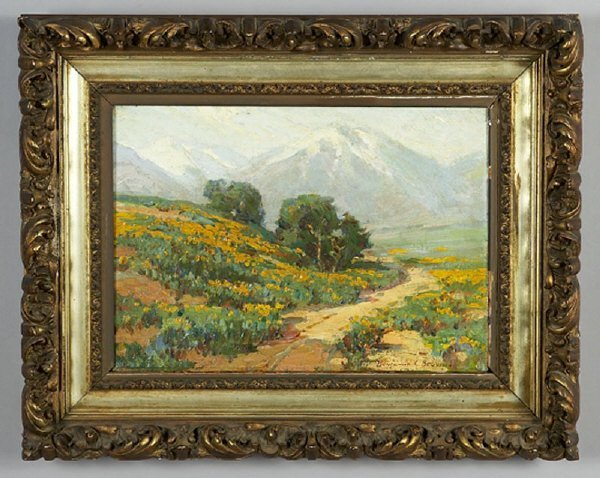 119: Benjamin Chambers Brown oil painting on canvas,