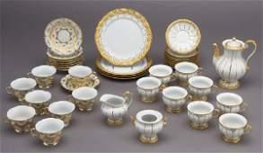 286: (39) Pcs. Meissen porcelain chocolate service