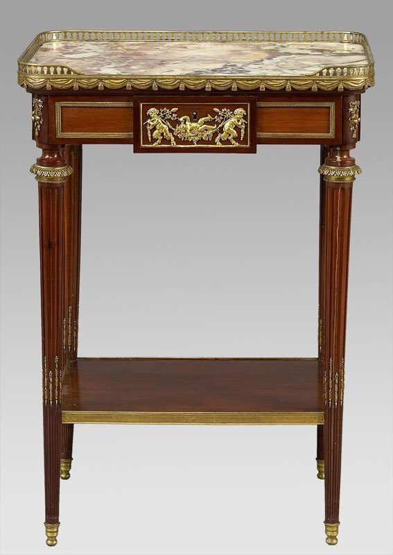 4: Louis XVI Linke style marble top side table