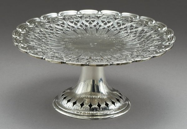 7: Tiffany sterling silver reticulated compote