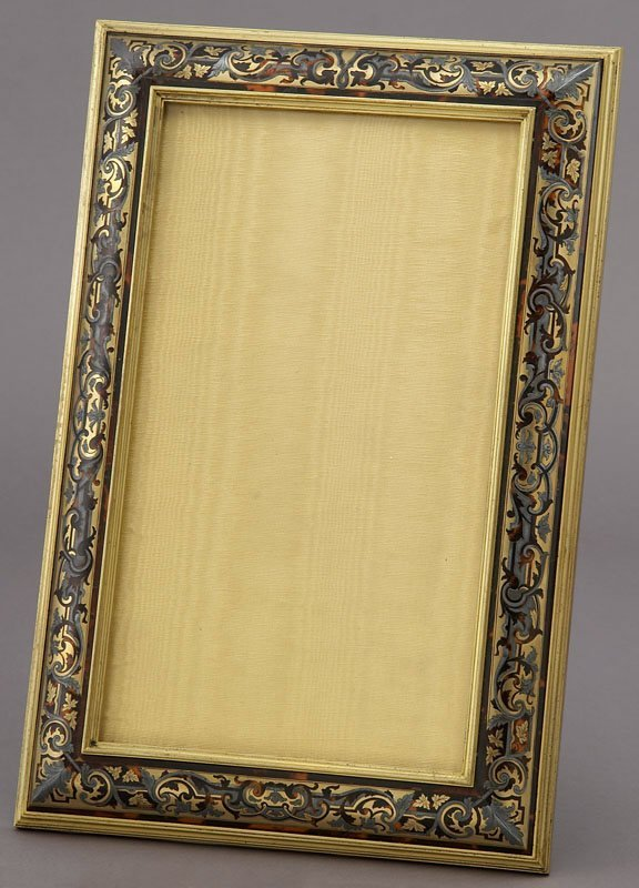 18: French Boulle style easel back picture frame