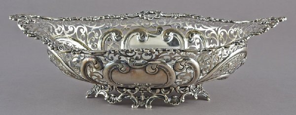 22: Gorham sterling silver reticulated bowl