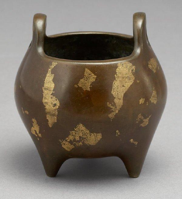 23: Chinese Ming Dynasty mixed metal incense burner