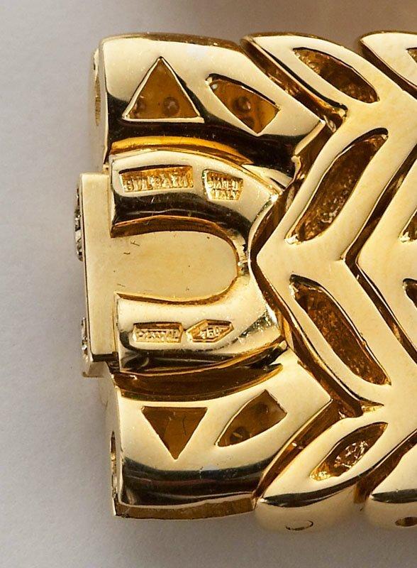 106: Bulgari Trika 18K gold and diamond necklace and - 3