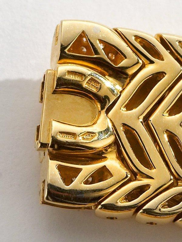 106: Bulgari Trika 18K gold and diamond necklace and - 4