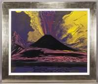 Andy Warhol Vesuvius color screenprint 1985