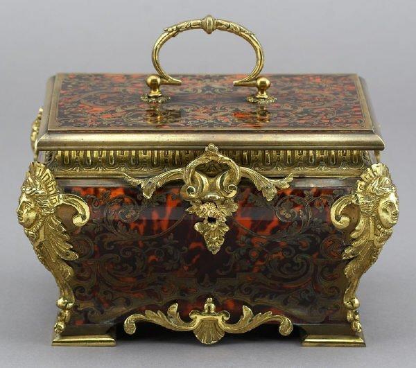 9: Boulle jewelry casket having ormolu mounts