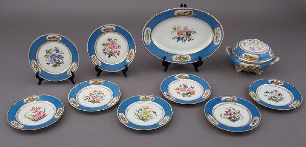 17: 10 Pcs. Sevres style Paris porcelain