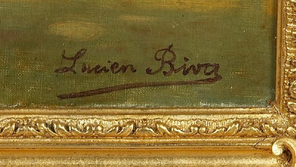 105: Lucien Biva oil painting on canvas, - 3