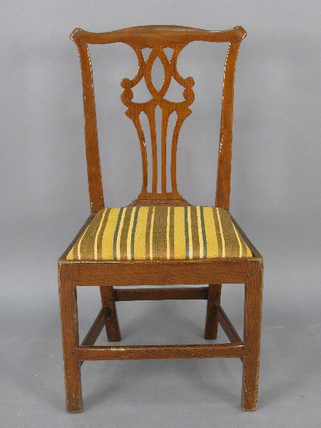 20: Georgian elm side chair w/ pierced