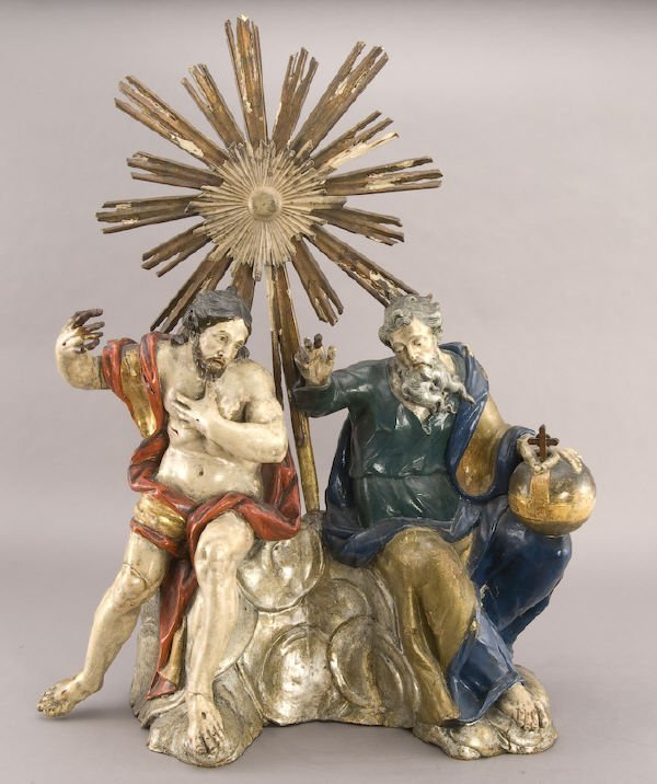 4: 18th C. Italian polychrome carved wood sculpture