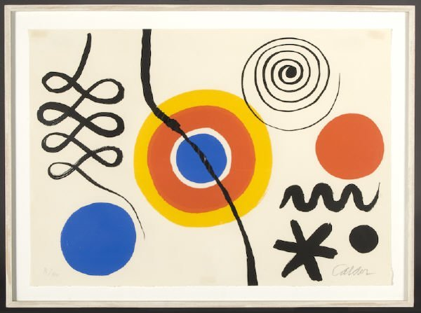 13: Alexander Calder color lithograph,