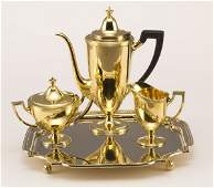 40 4 Pcs Tiffany sterling silver vermeil tea set