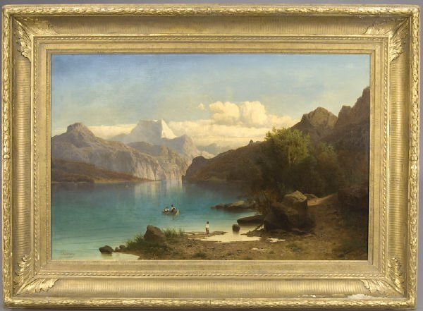 190: Franz Richard Unterberger oil painting on canvas,