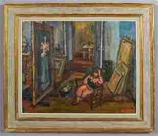 253: Arbit Blatas oil painting on canvas,
