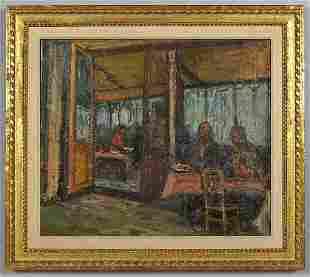 254: Arbit Blatas oil painting on canvas,