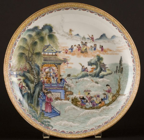 6: Chinese Republic famille rose porcelain plate