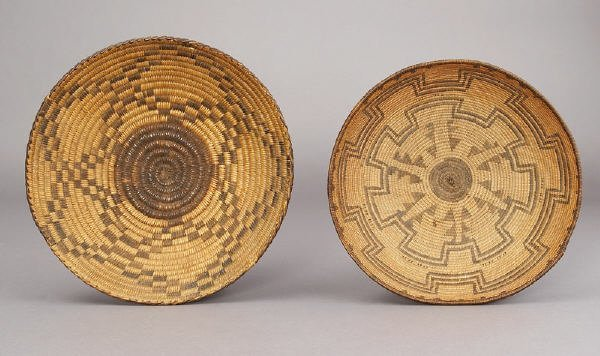 18: American Indian Apache and Papago baskets