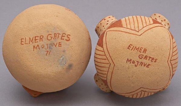 155: 2 Pcs. Elmer Gates Mojave redware pottery - 3