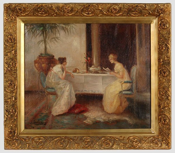 3: A. Soler oil painting on canvas,