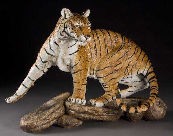 14: English Connoisseur bisque tiger sculpture