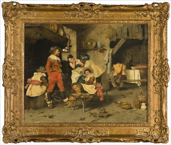 15: Italian school oil painting on canvas,
