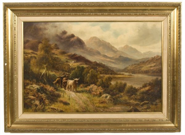 19: William Langley oil painting on canvas,