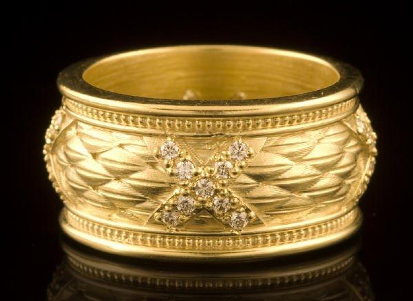20: Whiteside 18K gold and diamond ring