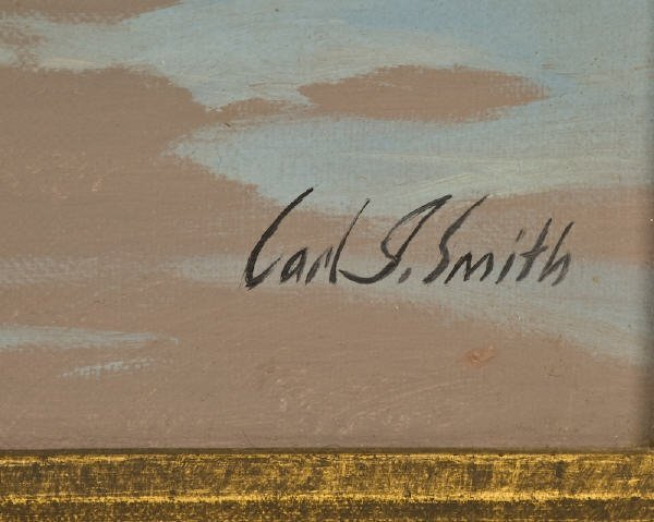 31: Carl J. Smith oil painting on canvas, - 6