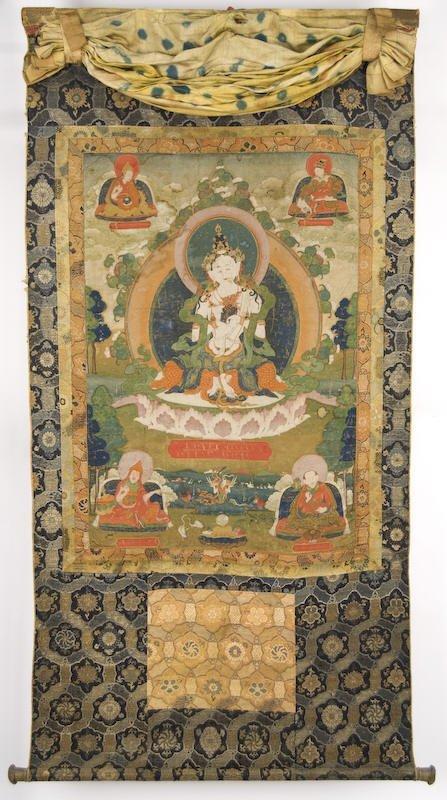 5: Chinese / Tibetan hand painted Thangka of Buddha