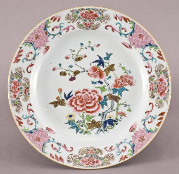 10: Chinese Qing porcelain famille rose charger