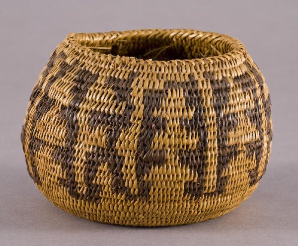 22: Early Native American Pomo coiled basket