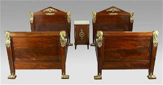 178: 3 Pc. French Empire mahogany bedroom suite
