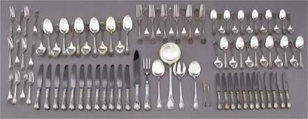 180: 90 Pcs. Christofle Marly sterling silver flatware