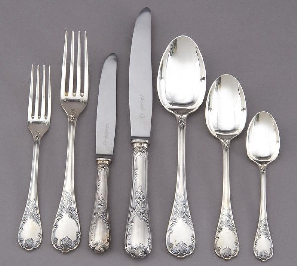 180: 90 Pcs. Christofle Marly sterling silver flatware - 2